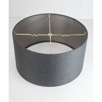 0-000025>18x18x10 Granite Grey Drum Lampshade