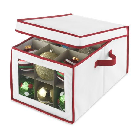 Whitmor christmas ornament storage box for Xmas decoration storage boxes