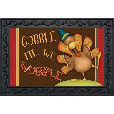 Thanksgiving Classroom Door (Gobble Til We Wobble Thanksgiving Doormat Indoor Outdoor 18