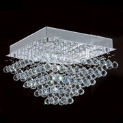 "Worldwide Lighting W33243C16 Chrome Icicle 5 Light 16"" Wide Flush Mount Ceiling Fixture In"
