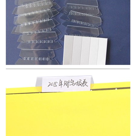 - 10/20/50/100/200pcs Suspension Hanging Clear Plastic Filing Folder File Tabs Inserts for File Boxs Holder
