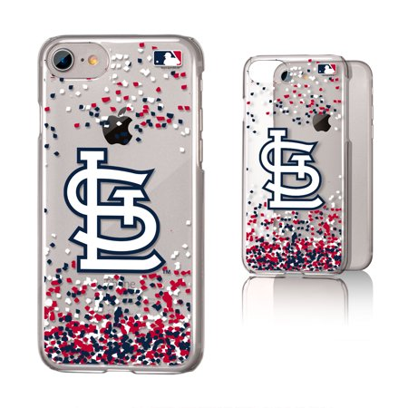 St Louis Cardinals Cardinals Confetti Clear Case for iPhone 8 / 7 /