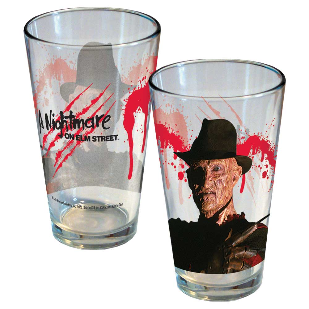 A NIGHTMARE ON ELM STREET FREDDY KRUEGER PINT GLASS NEW!