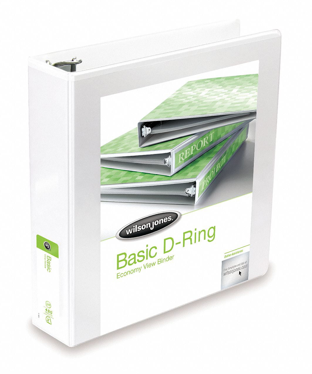 "White 1-1 2"" 3-Ring Binder, 8-1 2"" x 11"" SHeet Size, Polypropylene, 380 SHeet Capacity Binders by"