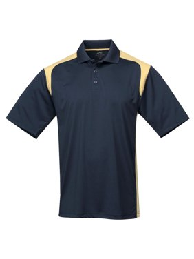Tri-Mountain Men's Big And Tall Rib Collar Golf Shirt