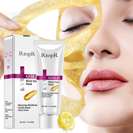 SUPERHOMUSE Gold Mask Face Remove Acne Blackhead Pore Peeling Treatment Nose Deep Cleansing Face Whitening (Best Cream To Remove Blackheads On Nose)