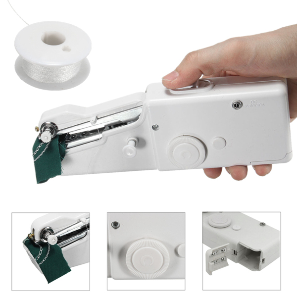 Mini Portable Electric Handheld Sewing Machine Battery Powered Household Clothes Fabric Handheld Sewing Tool