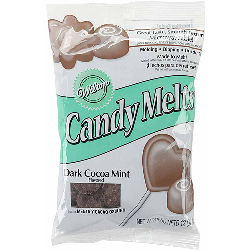 Wilton 12 oz. Candy Melts, Dark Cocoa Mint 1911-1355