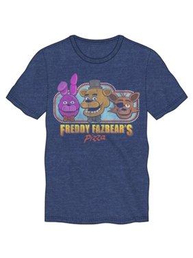 Five Nights at Freddys- Fazbears Pizza Apparel T-Shirt - Blue