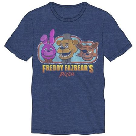 - Five Nights at Freddys- Fazbears Pizza Apparel T-Shirt - Blue