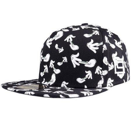 D9 Reserve Rolling Hands Snapback Hat Black DNINE