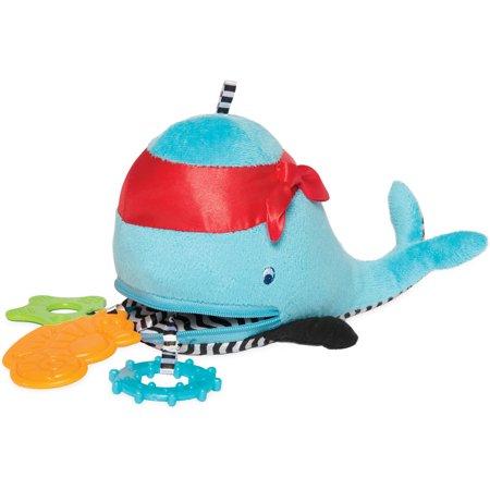 Manhattan Toy Zip and Play Waldon Whale bébé en peluche et Teether