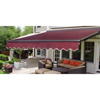 ALEKO 12'x10' Sunshade Half Cassette Retractable Patio Deck Awning, Multiple Colors
