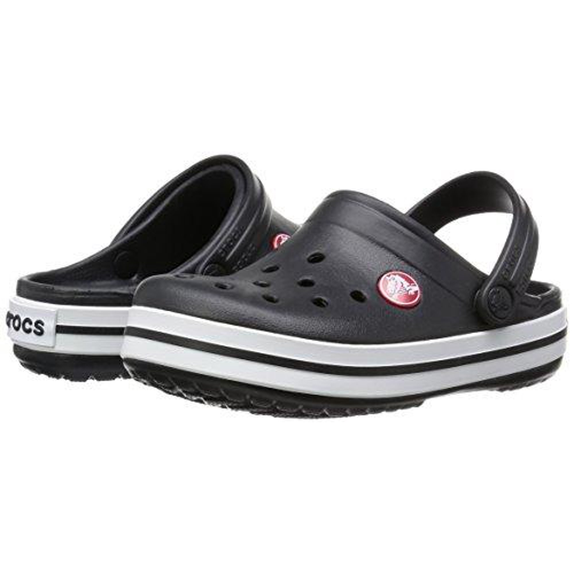 ee7fb389ccbd6 Buy Crocs Boy's Crocband Black Ankle-High Flat Shoe - 10M | Cheapest ...