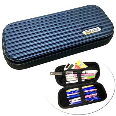 MAZZ MadCase BLUE Hard Shell Pen Pencil Case Pouch Box Storage School Supplies Kids BJ8 GMSA888006-01