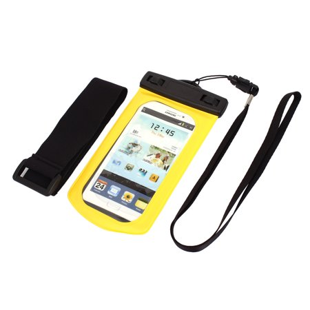 Unique Bargains Waterproof Case Dry Bag Cover Skin Pouch Sleeve Yellow for Galaxy S3 i9300