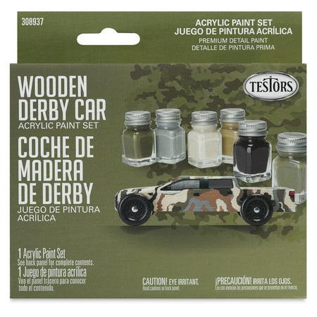 Testors Wooden Derby Car Acrylic Paint Sets