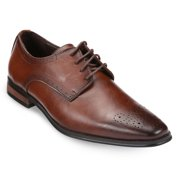 Gallery Seven Punctured Leather Oxford Dress Shoes for Men