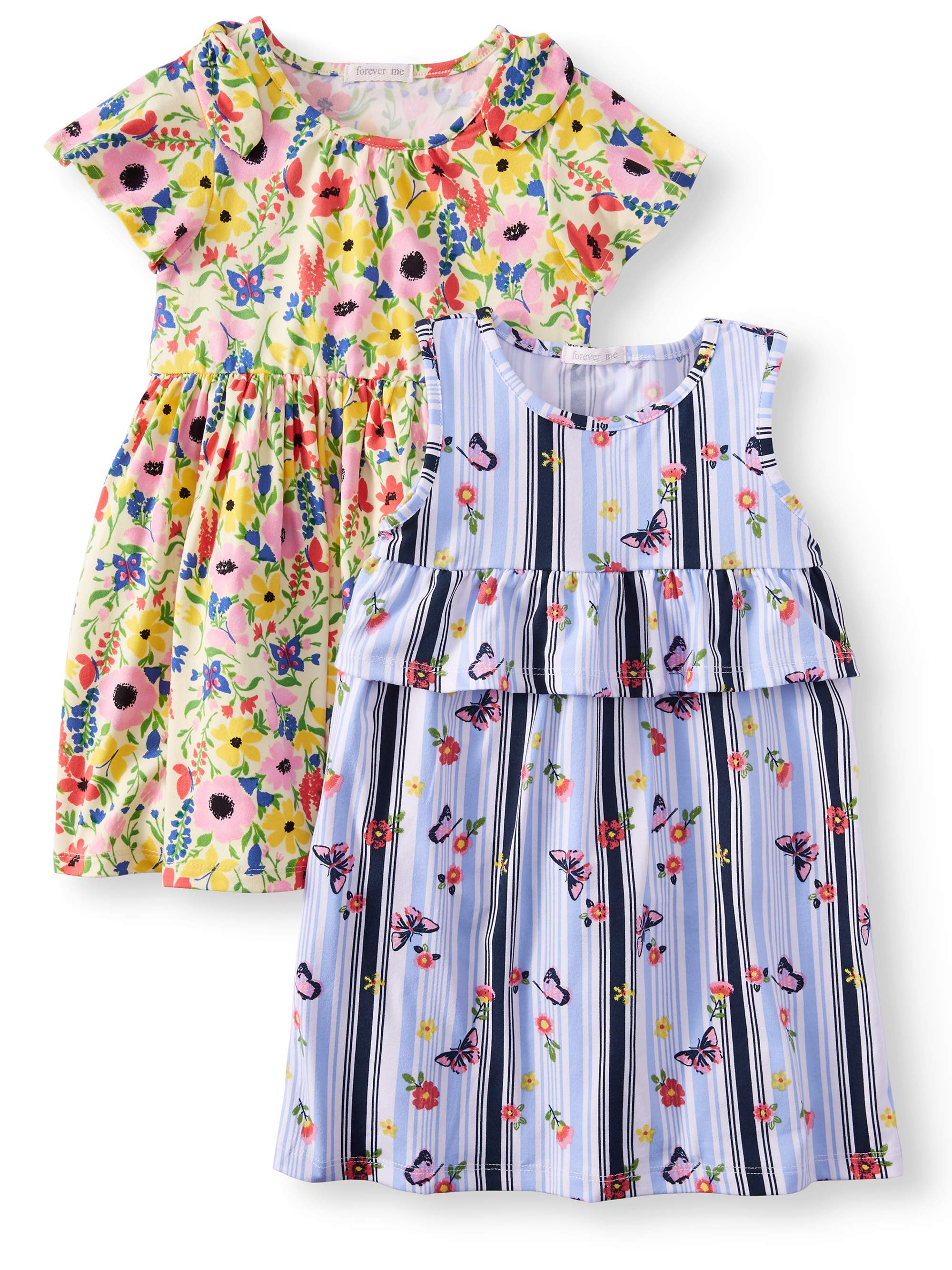 Printed Yummy Dresses, 2-Pack (Little Girls)