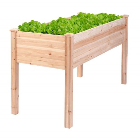 Wooden Raisedelevated Garden Bed Planter Box Kit Vegetableflower