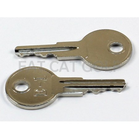 EZGO KEY FOR ALL STOCK EZGO GOLF CARTS (SET OF 2)
