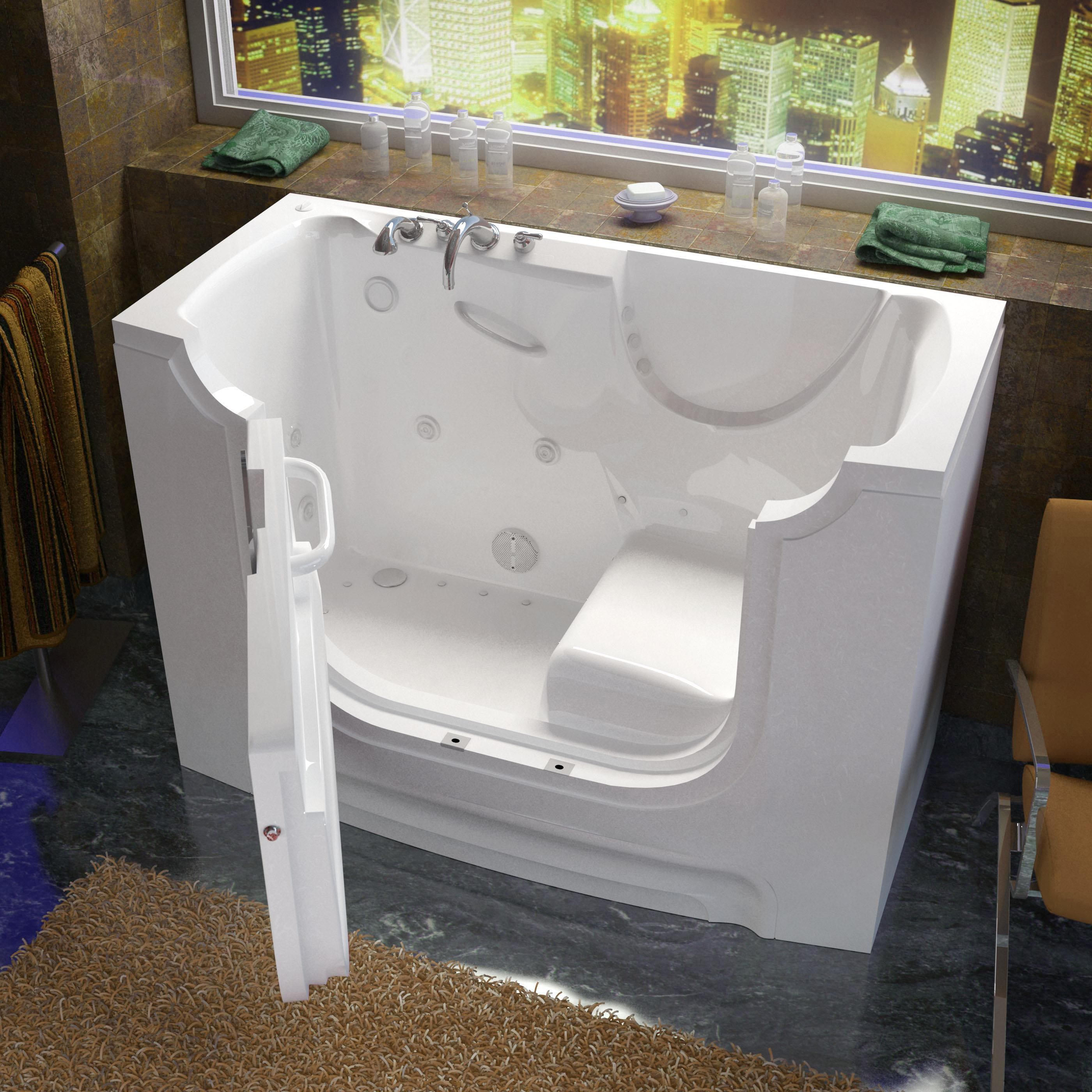 Venzi 30x60 Left Drain White Whirlpool & Air Jetted Wheel...