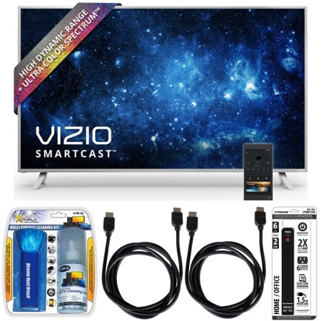 Vizio P50-C1 SmartCast P-Series 50″ Class Ultra HD HDR TV w/ Accessory Bundle includes TV, Performance TV Screen Cleaning Kit, 6 Outlet Power Strip with Dual USB Ports and 2 HDMI Cables