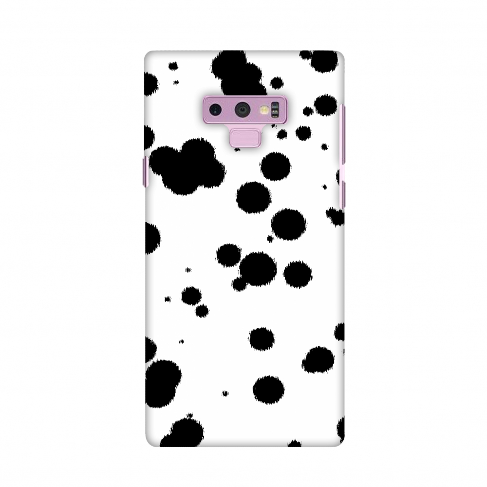 Samsung Galaxy Note9 Case, Premium Handcrafted Designer Hard Shell Snap On Case Shockproof Printed Back Cover for Samsung Galaxy Note9 - Dalmatian - Black Brushed Polka Spots On White