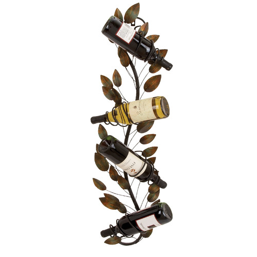 ABC Home Collection 4 Bottle Wall Mounted Wine Rack