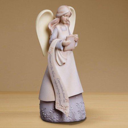 Nurse Angel Figurine (Other) Black Lab Dog Figurine