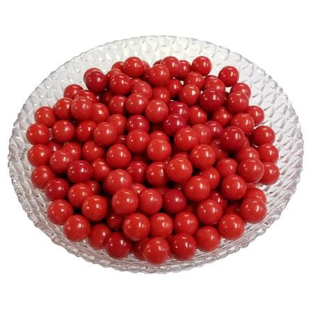 Sweet Bubble Gum - Gumballs Red Bubble Gum 2 Pounds 0.5 inch Mini Gumballs 2 Pound