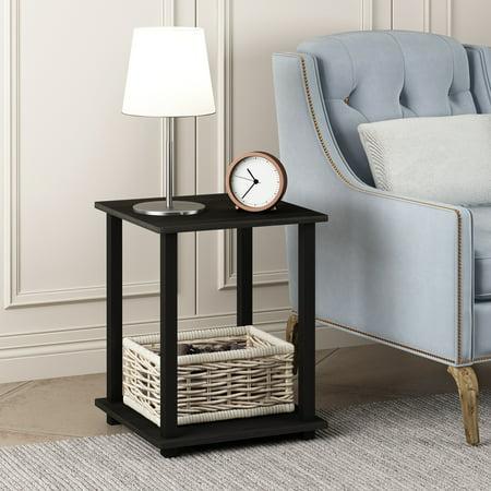 Furinno 12127EX/BK Simplistic End Table, Set of Two, Espresso/Black