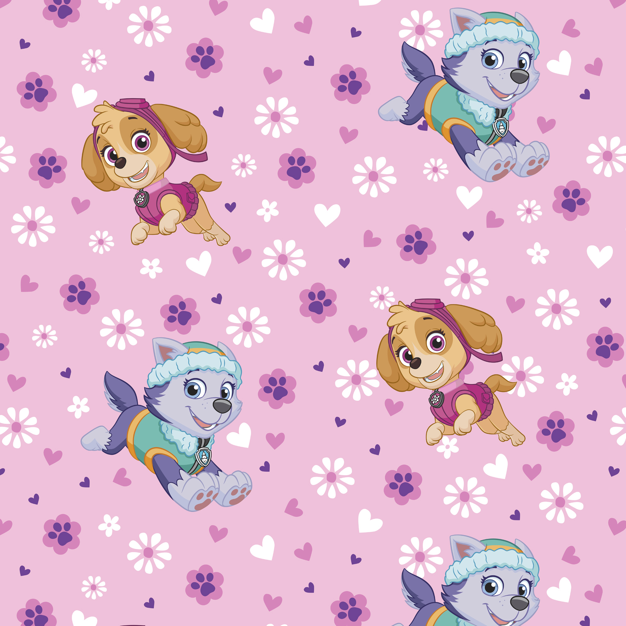"David Textiles Paw Patrol Fleece 54"" x 60"" Anti-Pill Pre-Cut Pup Power Fabric, 1 Each"