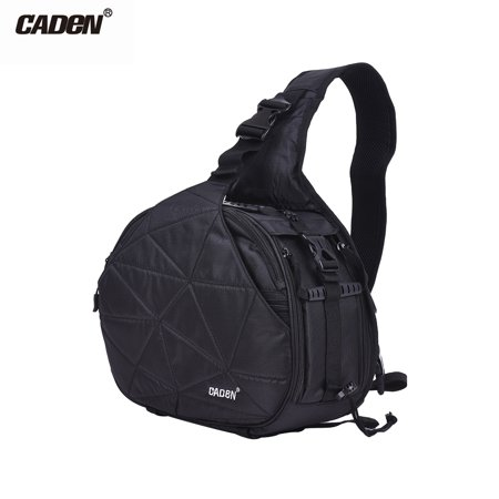 Nikon Holder - CADeN K2 Triangle DSLR Camera Bag Cross Sling Carry Case Shockproof Waterproof with Tripod Holder for Canon Nikon Sony Olympus Pentax