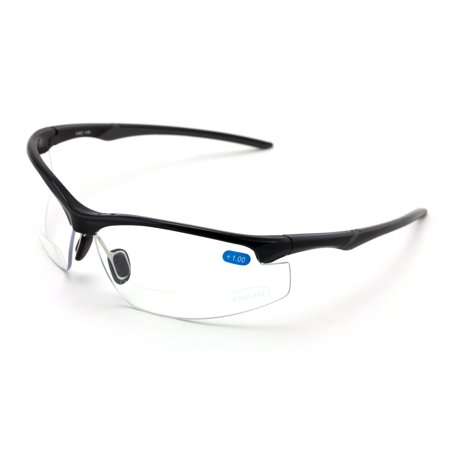 V.W.E. Rx-Bifocal High Performance Sport Protective Safety Glasses Bifocal - Clear Lens Reader Reading SunGlasses - Ansi Z87.1 (Safety Glasses With Bifocals)