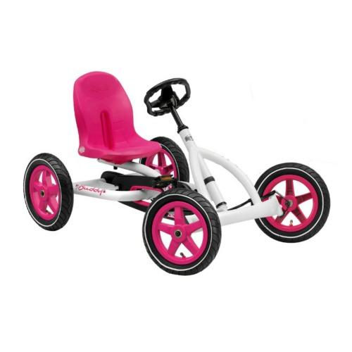 Berg Buddy White and Pink Pedal Car by Overstock