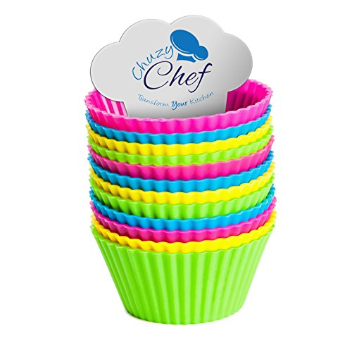 Silicone Cupcake Liners Standard Size Set of 12