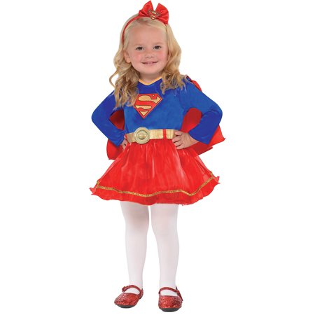 Suit Yourself Superman Classic Supergirl Costume for Babies, Includes a Dress, a Headband, an a