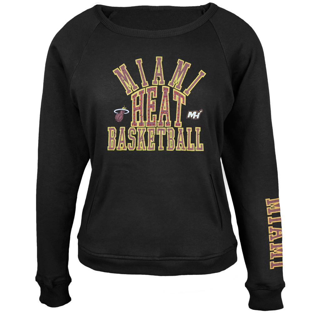 Miami Heat Overtime Juniors Crew Neck Sweatshirt Walmart Com