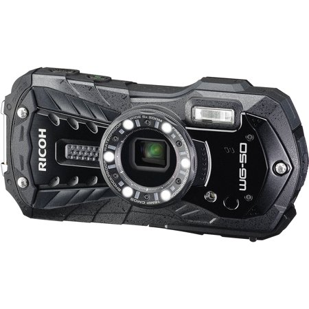 Ricoh WG-50 Waterproof / Shockproof Digital Camera (Carbon Grey)