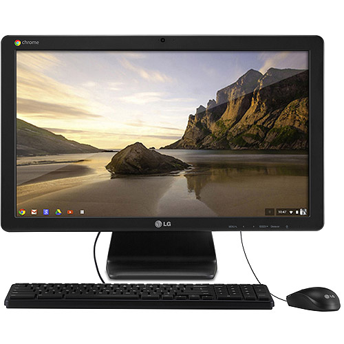 "LG Black Chromebase All-in-One Desktop PC with Intel Celeron 2955U Processor, 2GB Memory, 22"" Monitor, 16GB Hard Drive and Chrome OS"