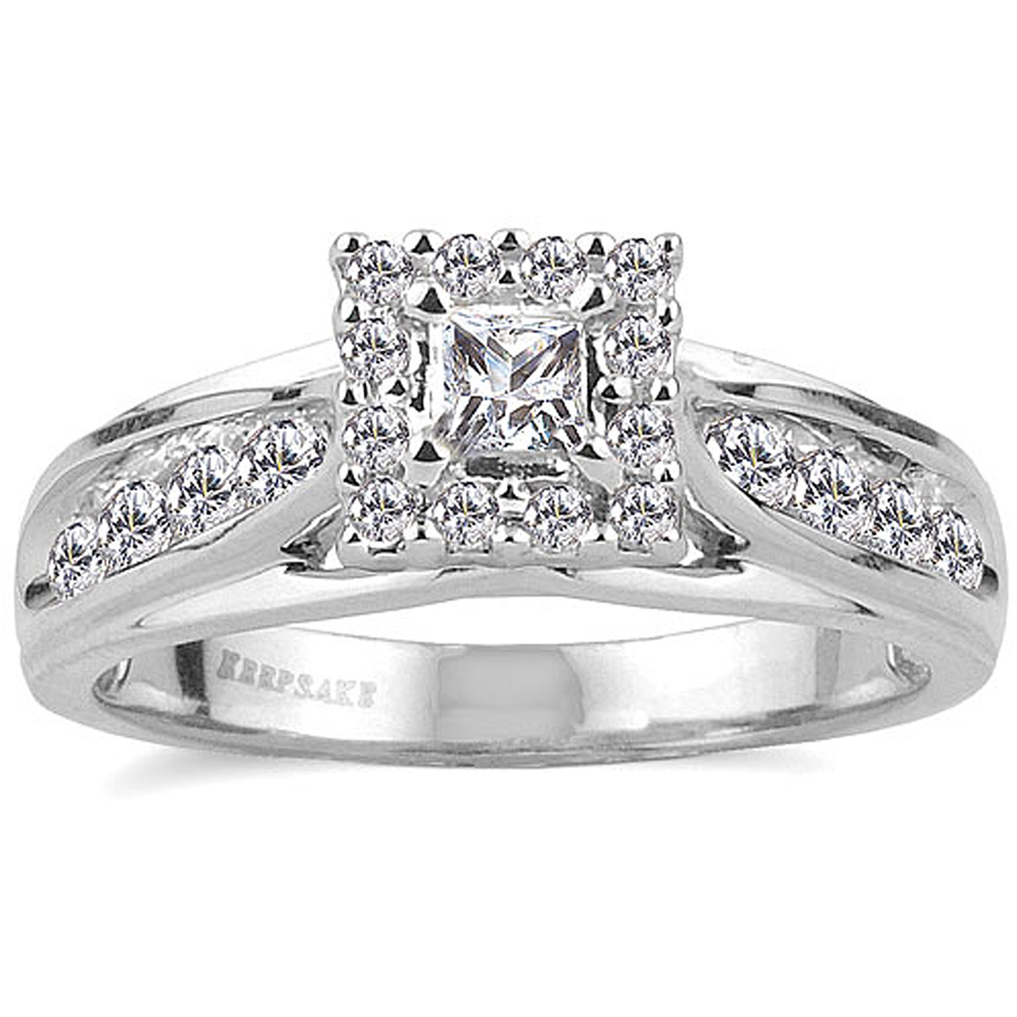 keepsake melody 12 carat tw certified diamond 10kt white gold ring walmartcom - Wedding Rings From Walmart