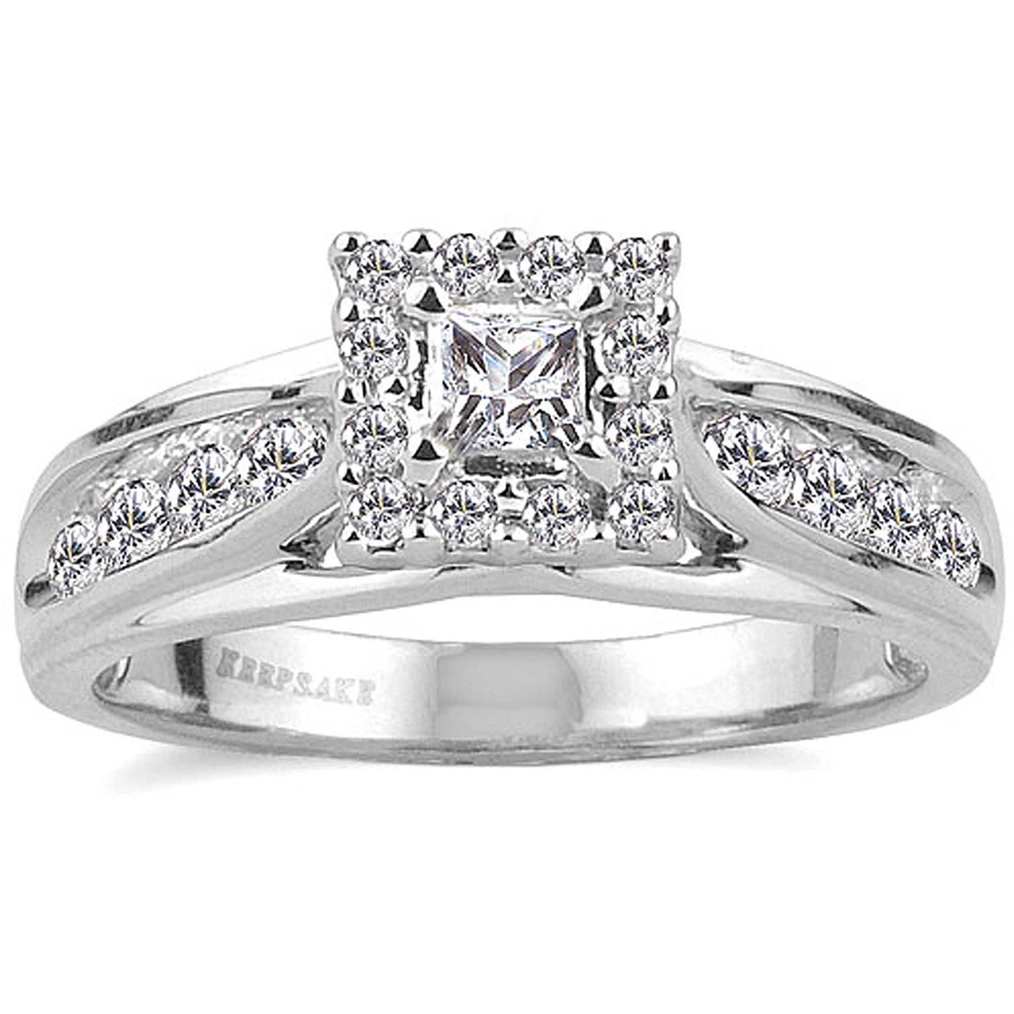 Keepsake Melody 1/2 Carat T.W. Diamond 10kt White Gold Engagement Ring