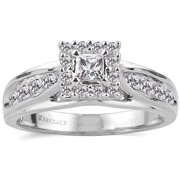 Melody 1/2 Carat T.W. Certified Diamond 10kt White Gold Ring
