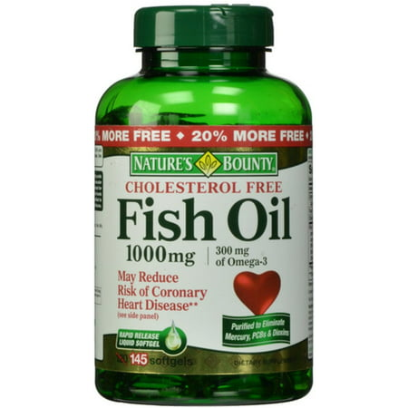 Nature 39 s bounty fish oil omega 3 1000 mg softgels 135 ea for Nature s bounty fish oil