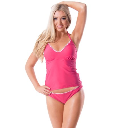 (Sport Womens Tankini Swimwear Push up Swimsuit Bathing Suit Bikini Set)