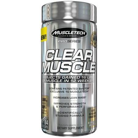 Muscletech Clear Muscle Liquid Caps  84 Ct