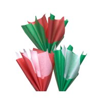 American Greetings Arts & Crafts Bulk Tissue Paper, Red, Green and White, 125-Count