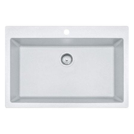 Franke DIG62D91-GRA 33u0022 X 22u0022 Primo Granite Graphite 1 Hole Double Bowl Kitchen Sink