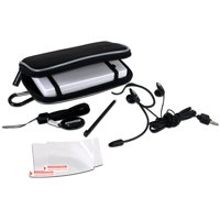 5 IN 1 Gamer Pack For Nintendo DSi - Includes: Carrying Case, Microphone Headset, Precision Stylus, Screen Protectors and Wrist Strap & Screen Wipe